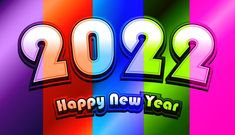 Free Colorful New Year Background 2022 Vector