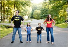 Totally going to do this for a family pic some day! super hero family portraits | v.a. photography