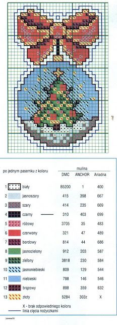 Ornament w/ House Cross Stitch Christmas Ornaments, Xmas Cross Stitch, Cross Stitch Needles, Cross Stitch Cards, Christmas Embroidery, Cross Stitch Kits, Christmas Cross, Cross Stitch Designs, Cross Stitching