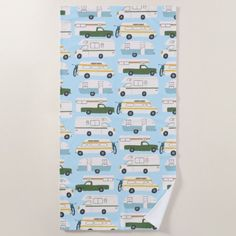 RV Campervan vanlife Motorhome Trailer CUSTOMIZE Beach Towel   camping rpod, camping needs, funny gifts #potscrubbers #airstreamlife #potholder