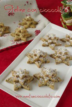 Menta e Cioccolato: Stelline di biscotto con cioccolato #christmas