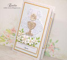 Emilia tworzy: Pierwsza Komunia Święta/Kartka komunijna/Card for Holy Communion Namaste