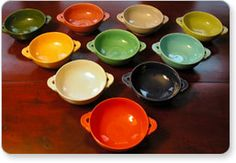 Would love to have a cabinet or two full of Fiesta ware