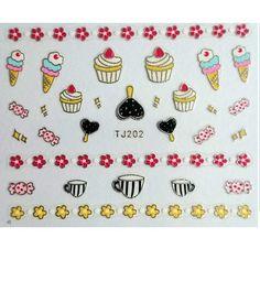 sweet treats cupcake and ice cream nail art stickers £1  worldwide shipping