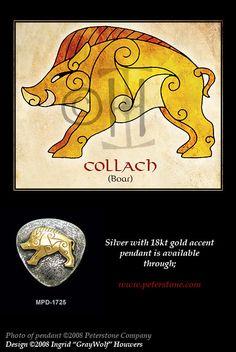 Boar - Celtic Animals by Illahie.deviantart.com on @deviantART