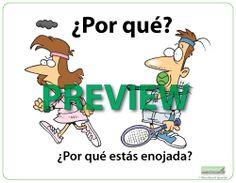Question Words in Spanish Wall Charts / Flash Cards - Los Interrogativos - Spanish 1