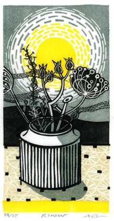 Angie Lewin, Wood cut print