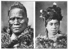 "Antique print 'New Zealand-Native types; Maori King and Queen-Waitaka tribe' by Unsigned from ""The Americana ""; Editor-in-Chief Frederick Converse Beach, Managing Editor George Edwin Rines, Published by Scientific American Compiling Dep't, New York Maori Face Tattoo, Maori Symbols, Maori Tribe, Maori People, Maori Designs, Maori Art, We Are The World, Antique Prints, Old Antiques"