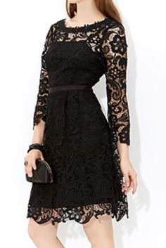 MONSOON Lolita Black Lace Dress UK16 EUR44  MRRP: £99.00 GBP - AVI Price: £65.00 GBP