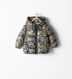 Blouson matelassé camouflage de Zara Zara Estados Unidos 764506701049