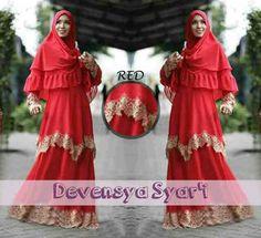 grosir baju wanita · Devensya syari red  113rb Busui sleting 83db54a034