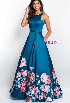 Blush Prom Dresses and Evening Gowns Blush Style 11136 Blush Prom Dress, Floral Prom Dresses, Blush Dresses, Grad Dresses, Dance Dresses, Elegant Dresses, Cute Dresses, Strapless Dress Formal, Beautiful Dresses