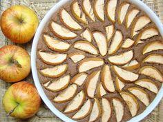 Cizrnový koláč s jablky