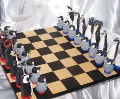 Penguins Chess Set - I love this!!
