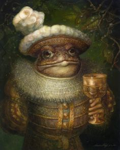 'The Toad'. Illustration by Annie Stegg from 'Thumbelina' Art Visionnaire, Art Fantaisiste, Frog Art, 3d Fantasy, Fantasy Illustration, Visionary Art, Fantastic Art, Whimsical Art, Toad
