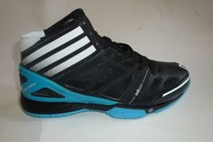 Derrick Rose shoes 2012 Adidas Adizero Bash 3 Black Chlorine Blue G21733  Adidas Basketball Shoes 71b59fb53f2f