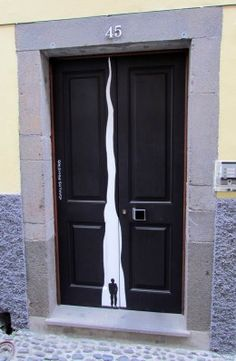Art painted on the doors