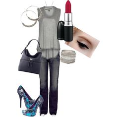 Shades of Purple and Grey, created by angeliquemimms on Polyvore