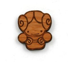 Laser Cut Supplies-1 Piece.Princess Leia Charms -Cherry Wood Laser Cut Princess -Brooch Supplies- Little Laser Lab Sustainable Wood Products