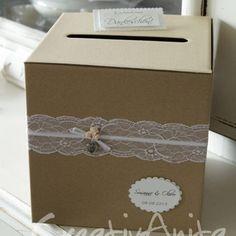 Briefbox - Geschenktruhe - Natur Vintage Hochzeit