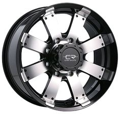 """Core Racing Rogue - Gloss Black with machined face.  Available in 17"""" and 18"""".  www.coreracingwheels.ca  Starting at $172.99.  #wheel #rim #truck"""