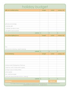 Planning Pages | Organized Christmas