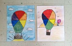 Teach and Shoot: Elementary Art Unit: Color Theory - Color Wheel Hot Air Balloons