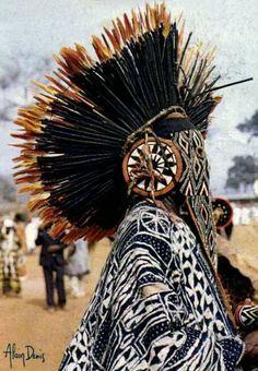 "Africa | ""Bamileke Folklore. Bana, Cameroon"" | ©Alain Denis || Scanned postcard; post stamped 1986."