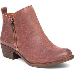 ... 3 Side Zip Perforated Leather Booties. See more. Women's Lucky Brand  Basel Bootie Russet