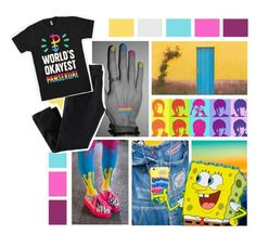 """""""National Coming Out Day"""" by annabethpercy ❤ liked on Polyvore featuring art, gay and Pansexual"""