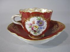 MEISSEN SCALLOPED CUP & SAUCER  19th century.  I have this and it is gorgeous!