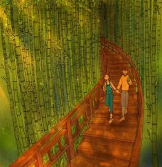 Her art piece display asymmetrical balance. The focus is on the right but the environment matches on both sides making this piece balanced. By Puung Cute Couple Comics, Couples Comics, Anime Couples, Cute Couples, Couple Illustration, Illustration Art, Puuung Love Is, Ah O Amor, Couple Art