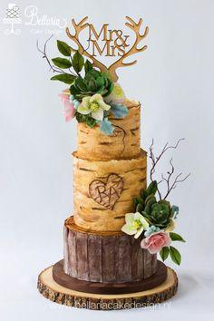 Birch wedding cake by Bellaria Cake Design - http://cakesdecor.com/cakes/308384-birch-wedding-cake #weddingcakes
