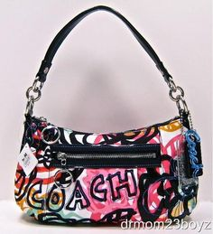 08567c987e16 Coach Poppy Groovy Blossom Floral Multicolor Crossbody Purse...just added  to my collection