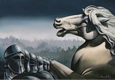 "Giannis Nikou, ""The warriors"", 155X110 cm, oil on canvas, 2009"