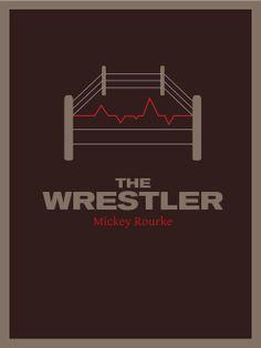 minimal redesign of the Wrestler movie poster