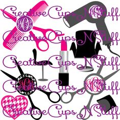 Perfect Monogram Frames for Hair Stylists! https://www.etsy.com/listing/223243243/hair-stylist-salon-monogram-scissors