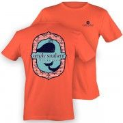 Simply Southern Tee Shirt Short Sleeve Coral Nautical Whale Tee 100% C – GiftsOnSite