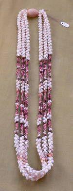 "Ni'ihau Shell Lei 30"" 3 Strand Kipona Necklace at Maui Hands"