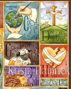 Name Above All Names alfabetoriginele kunst door KristaHamrick