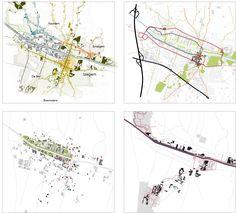 Masterplan en centrumvisie - Izegem - Delva Landscape Architects Landscape Concept, Urban Landscape, Landscape Design, Garden Design, Urban Design Concept, Urban Design Diagram, Urban Analysis, Site Analysis, Map Diagram