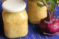 Sterilované kedlubnové zelí Kimchi, Grains, Dairy, Cheese, Homemade, Canning, Recipes, Food, Ds