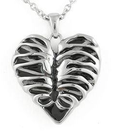 Hell's Boutique - Heart Rib Cage Necklace Bones Punk Goth http://hellsboutique.com