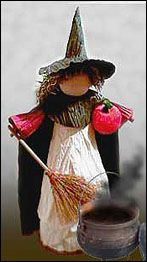 Pat Holter, remember our pilgrims! Samhain Halloween, Halloween Crafts, Halloween Decorations, Doll Crafts, Fun Crafts, Paper Crafts, Paper Ribbon, Ribbon Crafts, Corn Husk Crafts