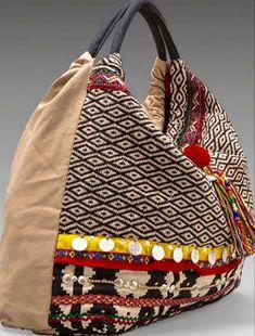 The Inez Weekender, Yoga Mat, Large Travel Bag, Carry on, Ethno Style, Ethnic Bag, Carpet Bag, Diy Handbag, Boho Bags, Fabric Bags, Handmade Bags, Handmade Handbags, Vintage Bags