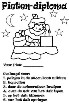 Sinterklaas - Knutselidee - pietendiploma Diy For Kids, Cool Kids, Crafts For Kids, Christmas And New Year, Christmas Holidays, Teacher Assistant, Home Schooling, Creative Kids, My Teacher