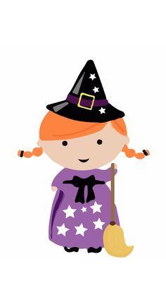 Halloween topper. Descargable de halloween. Brujita