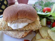 Spicy Crispy Fish Sandwich with Jalapeno Mayo