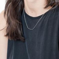 Modern Citizen  |  Sterling Silver Short Arc Necklace $65