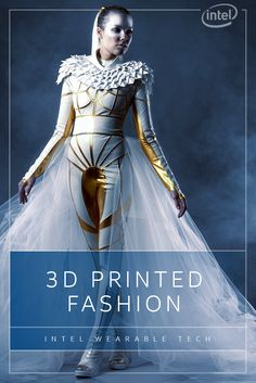 The Eagle Borg bodysuit from Monica Vaverováfuses sci-fi inspiration, modern fabrics and stunning 3D-printed elements that include a gravity-defying helmet. Experience what happens when Intel tech and 3D-printing let fashion soar with smarts. http://intel.ly/1PJctSa